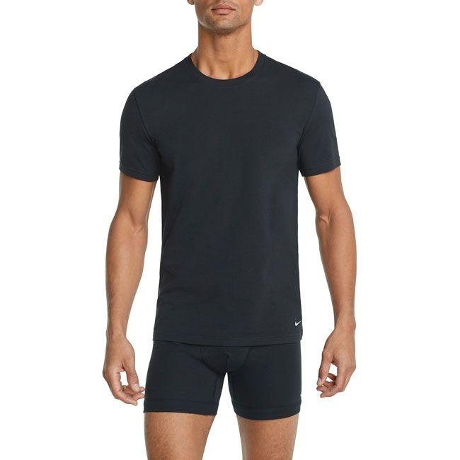 Nike Underwear Everyday T-Shirt Girocollo 2Pack Uomo Grigio Nero