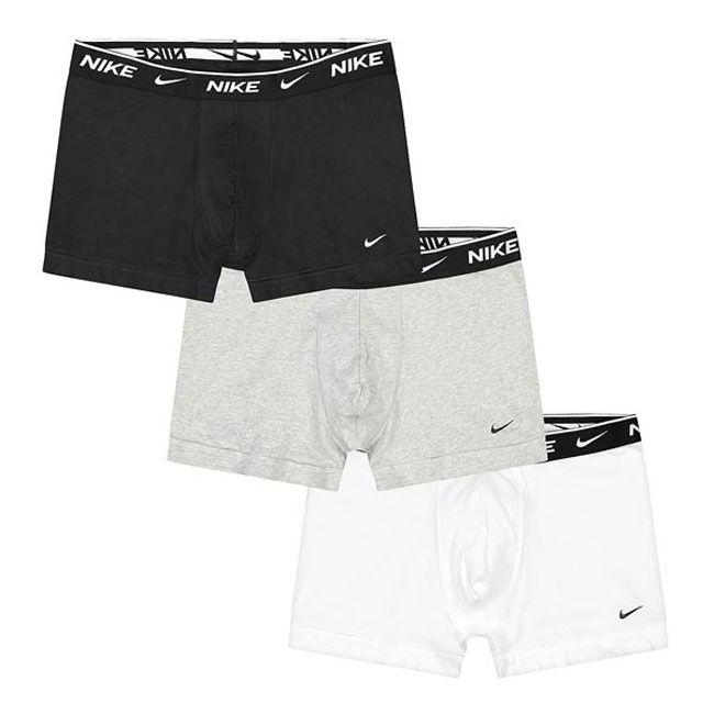 Nike Underwear Everyday Boxer Parigamba 3Pack Uomo Nero Grigio Bianco