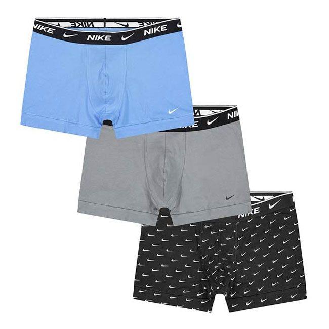 Nike Underwear Everyday Boxer Parigamba 3Pack Uomo Nero Grigio Azzurro