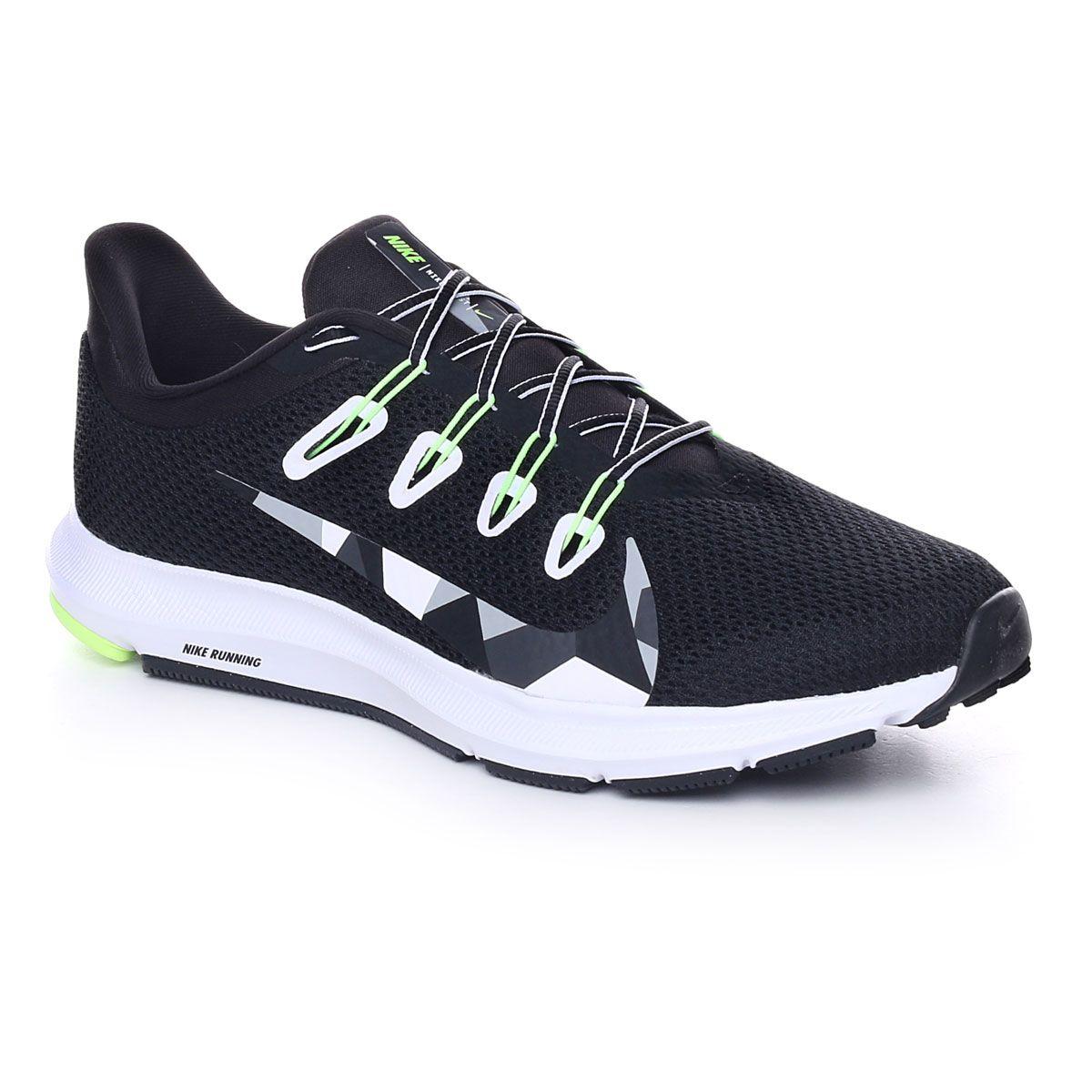 Nike Quest 2 Uomo Black White Iron Green