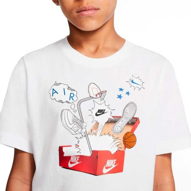 Nike T-Shirt Shoebox Af1 Bambino Bianco