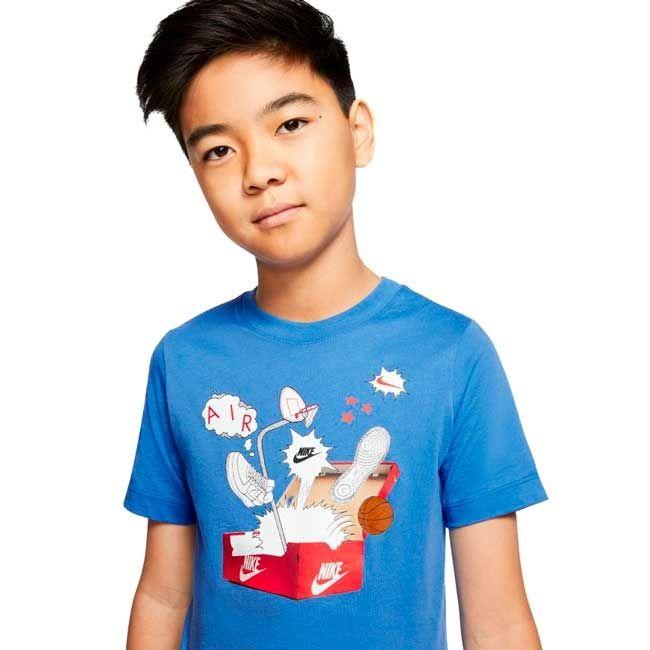 Nike T-Shirt Shoebox Af1 Bambino Royal
