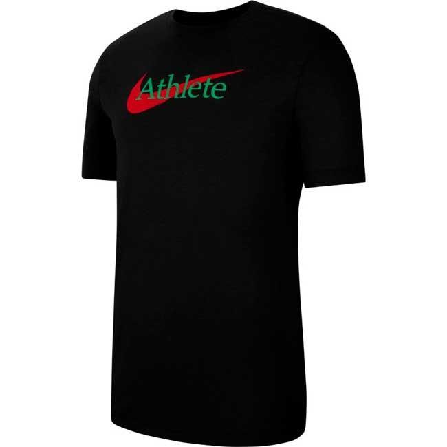 Nike T-Shirt Athlete - Dry Uomo Nero Rosso