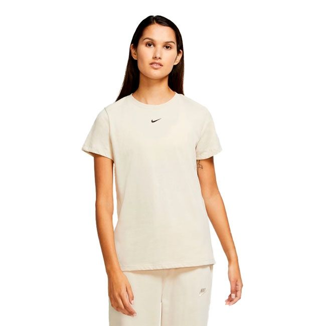Nike T-Shirt Basic Logo Essential Donna Sabbia