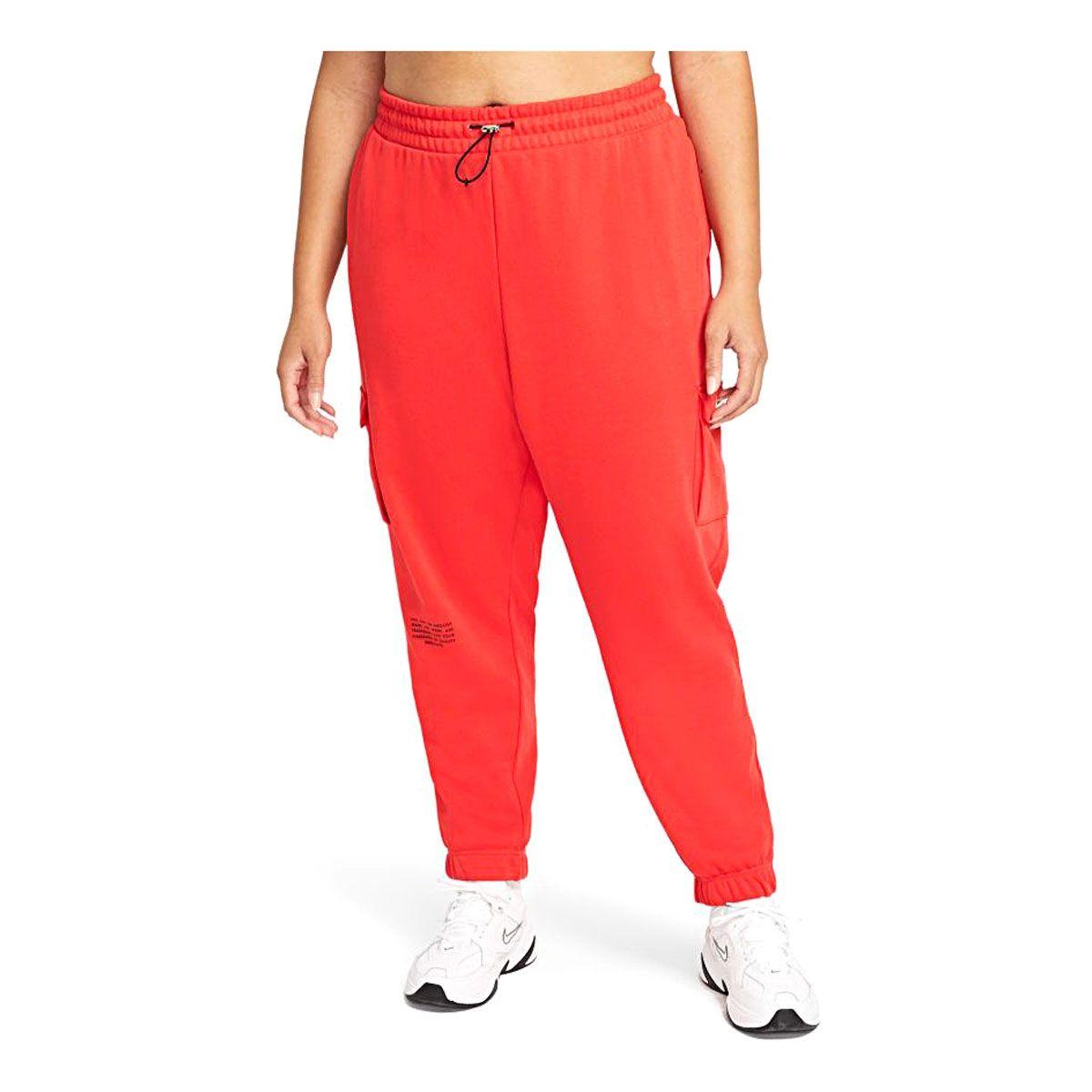 Nike Pantalone Sportswear Swoosh Donna Rosso Nero