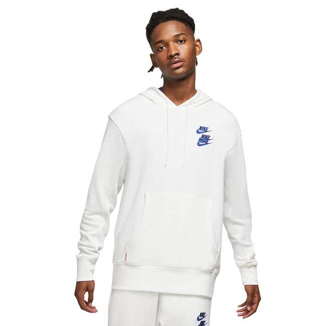 Nike Felpa Sportswear World Tour Uomo Bianco Multicolor