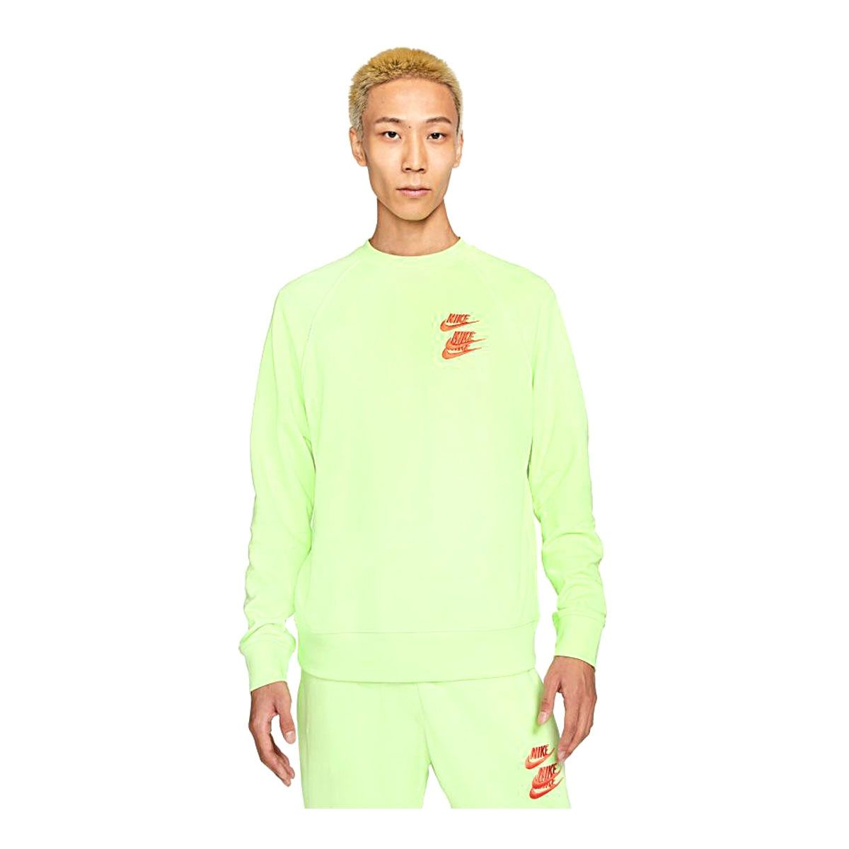 Nike Felpa World Tour Pack Swoosh Uomo Lime Arancione
