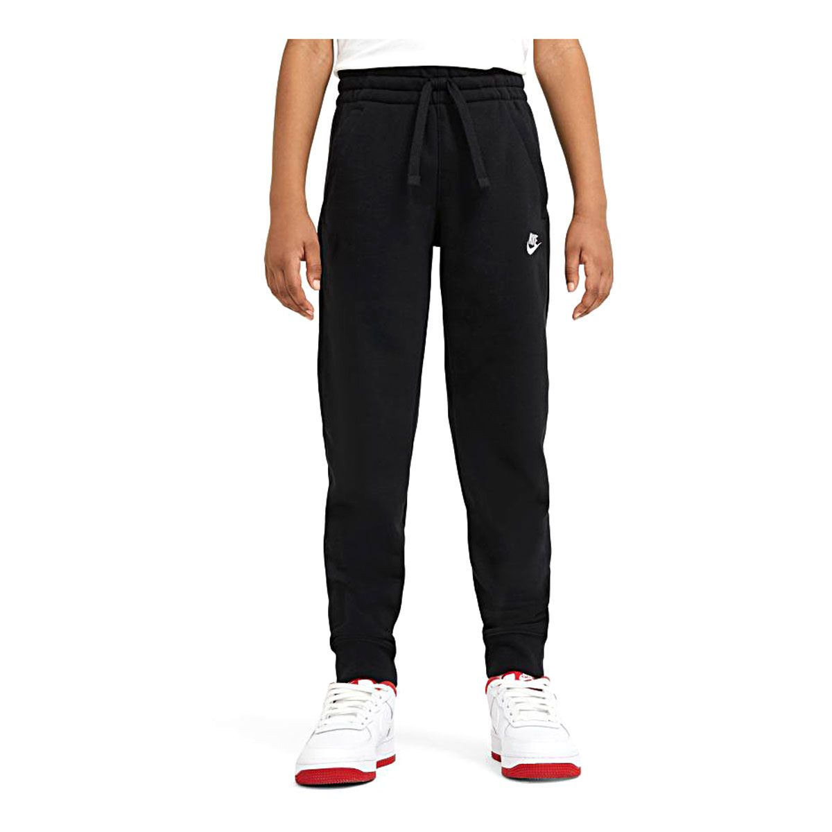 Nike Pantaloni Sportswear Club Bambino Nero Bianco