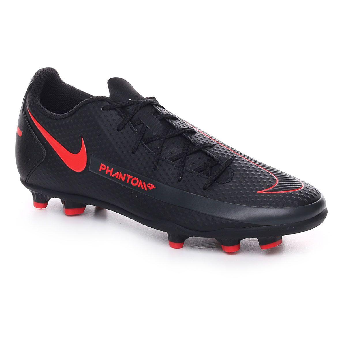 Nike Phantom Gt Club Fg/Mg Uomo Nero Rosso