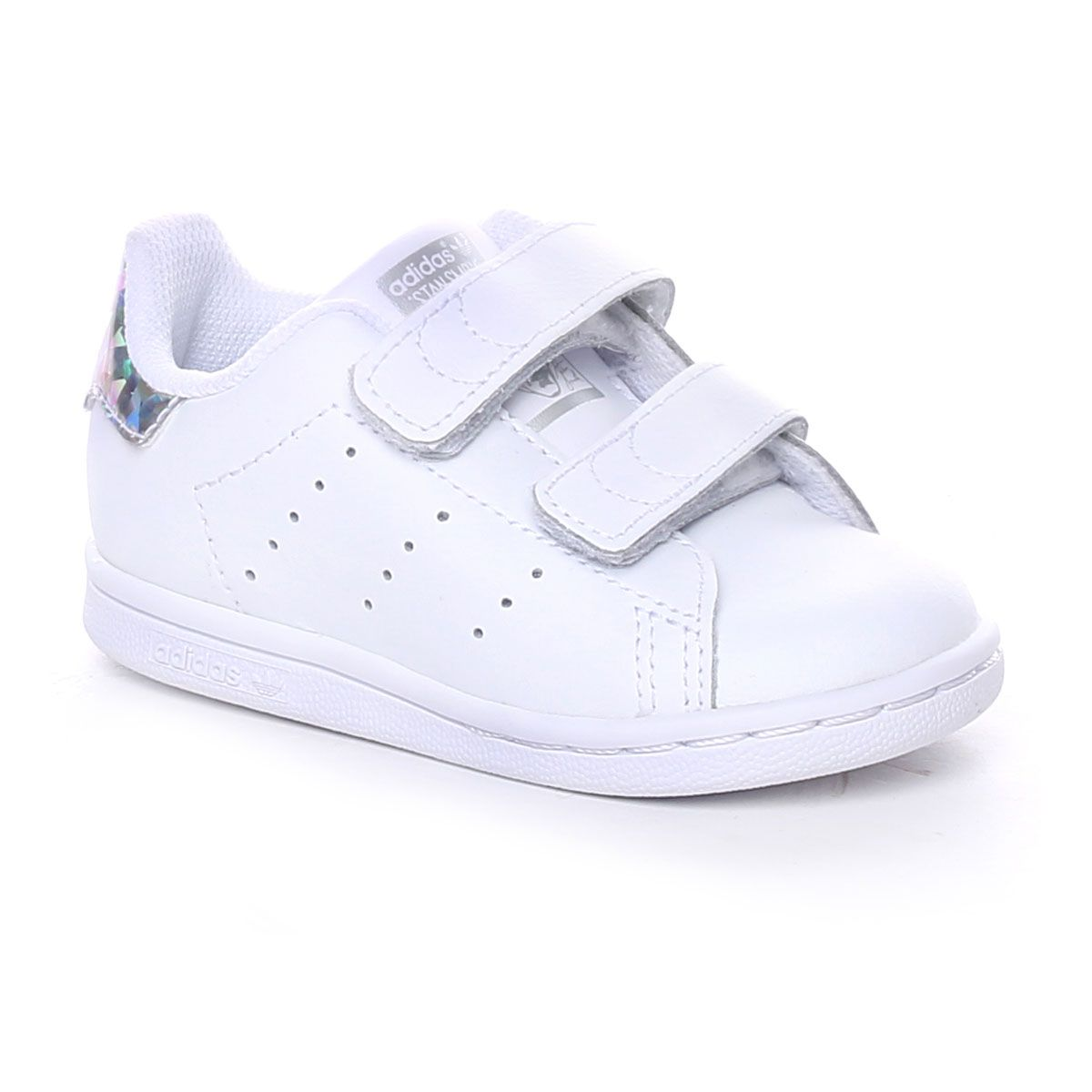 Adidas Stan Smith Cf Infant Bianco Silver