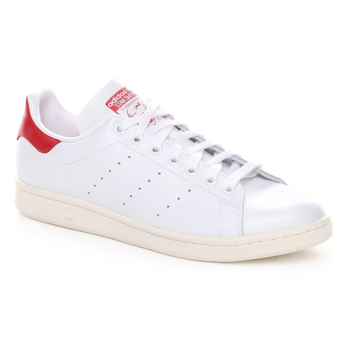 Adidas Originals Stan Smith Uomo Bianco Rosso