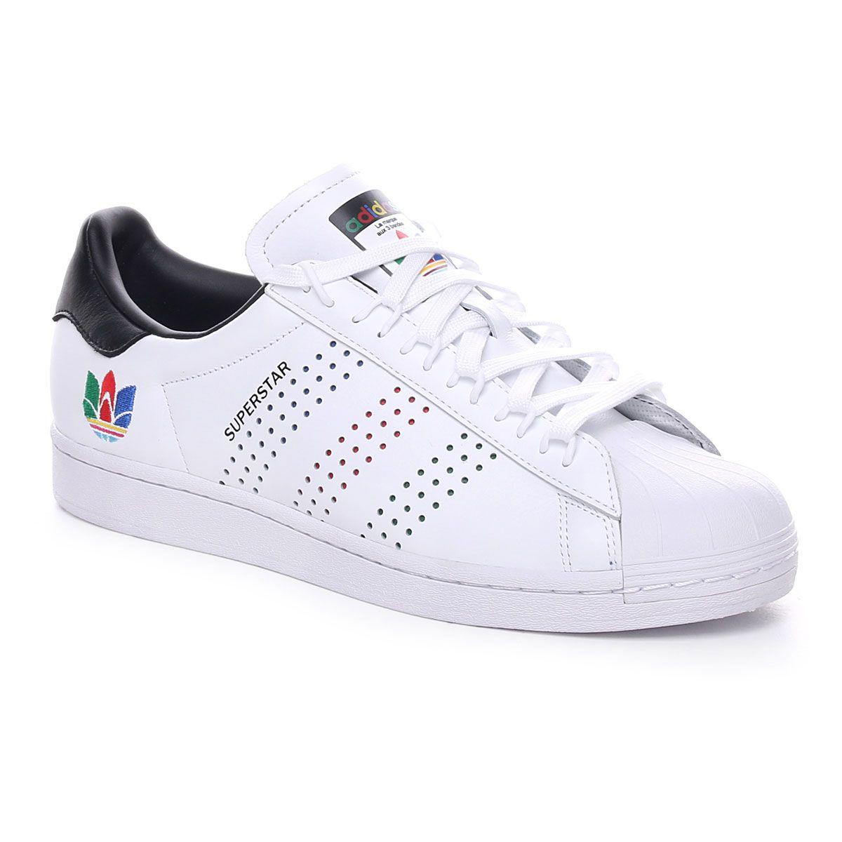 Adidas Superstar Logo 3D Uomo Bianco Nero