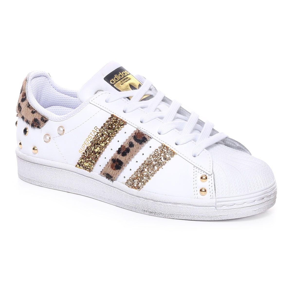 adidas Superstar Luxury Leopard Donna Bianco Oro