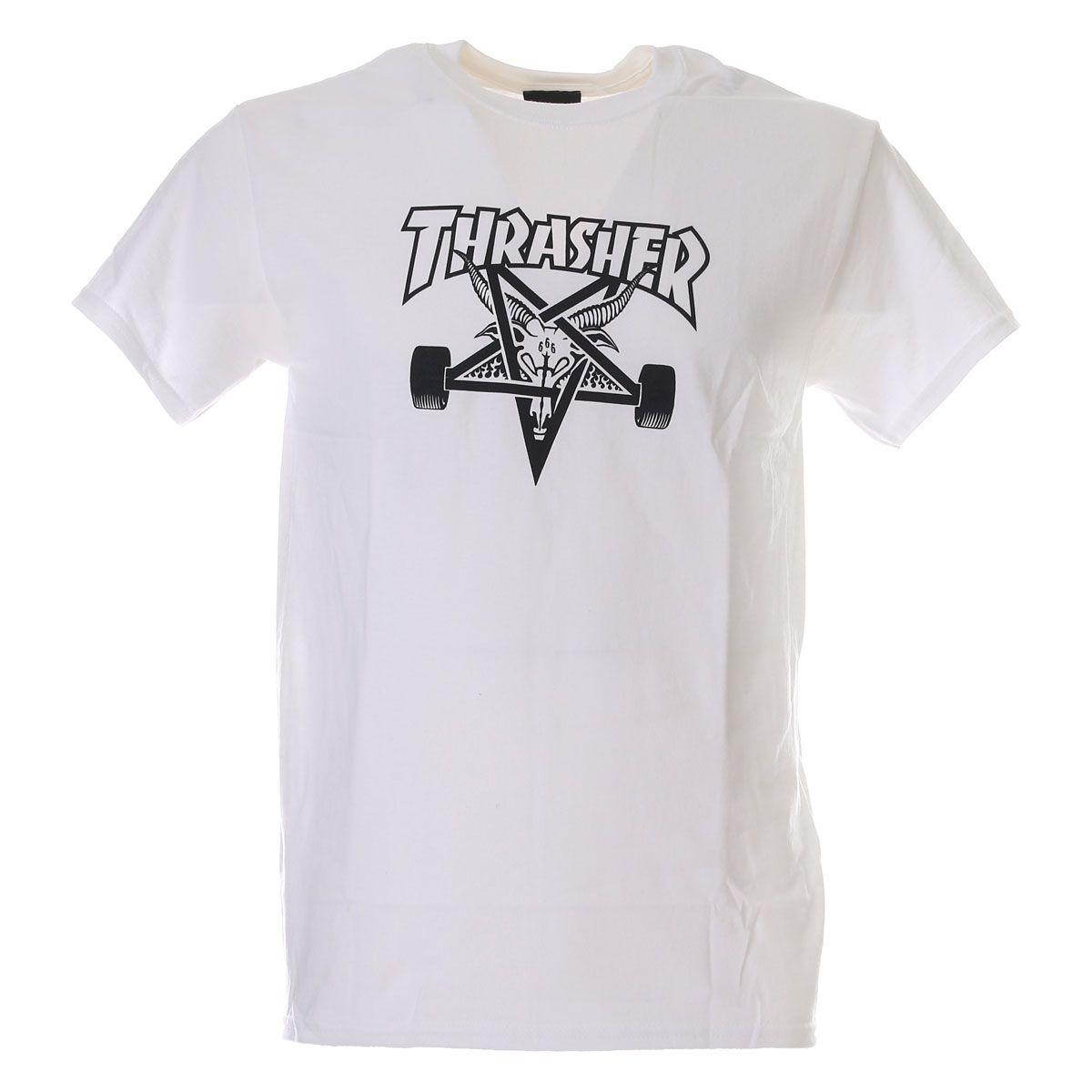 Thrasher T-Shirt Skategoat White