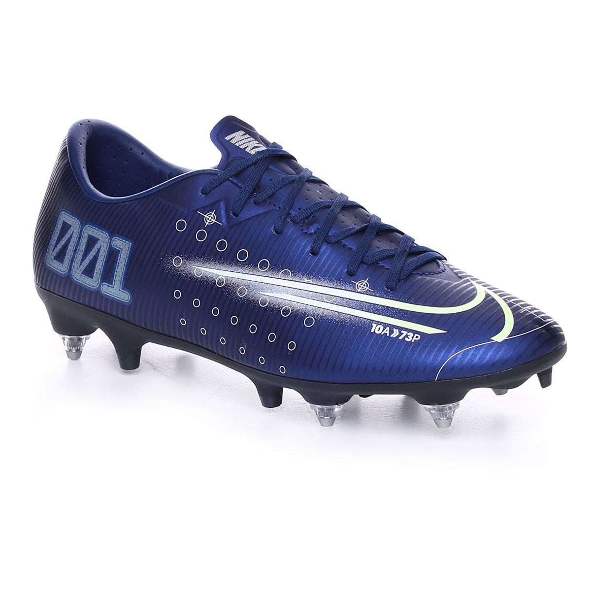 Nike Mercurial Vapor 13 Academy MDS SG-PRO Anti-Clog Traction Uomo Blue Void Metallic Silver