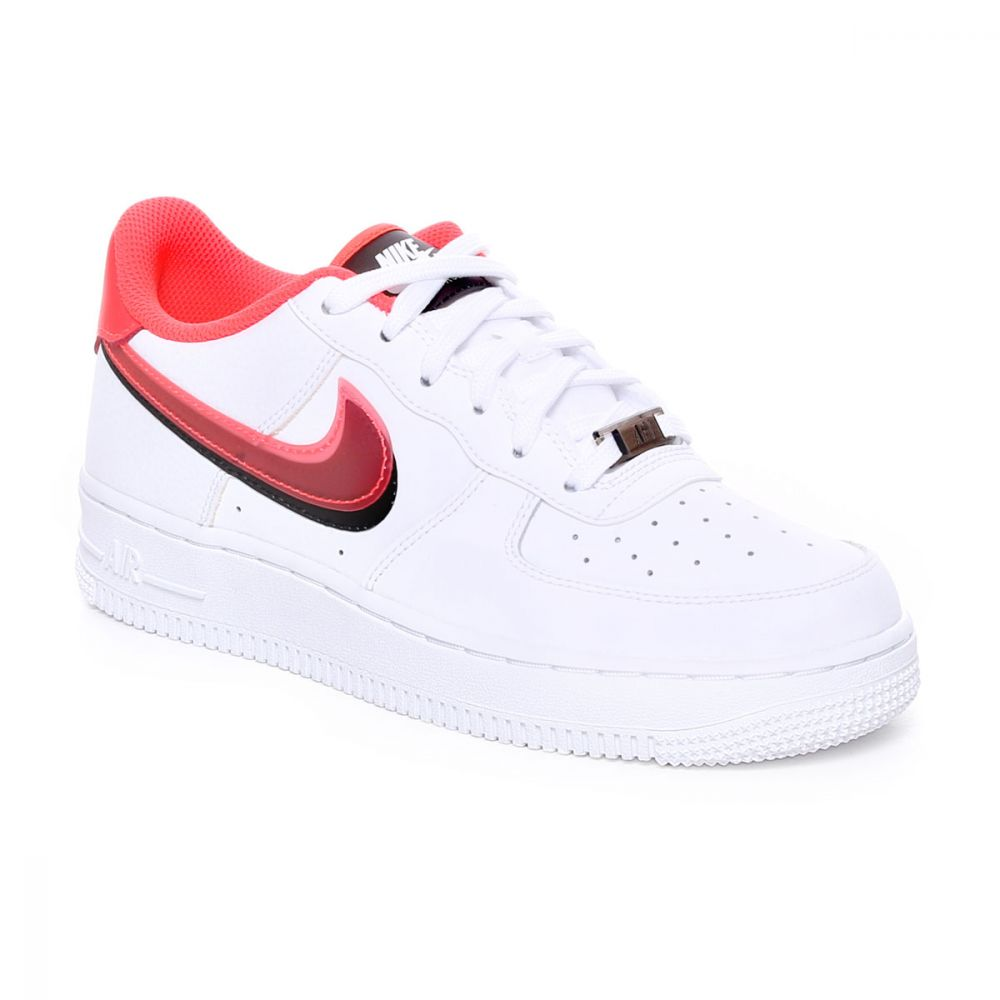 Nike Air Force 1 Lv8 Double Swoosh Gs Bianco Rosso