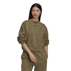 adidas Felpa adicolor Essentials Fleece Donna Verde NonSoloSport