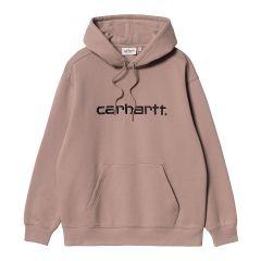 Carhartt Felpa Hooded Sweatshirt Donna Cipria Nero NonSoloSport