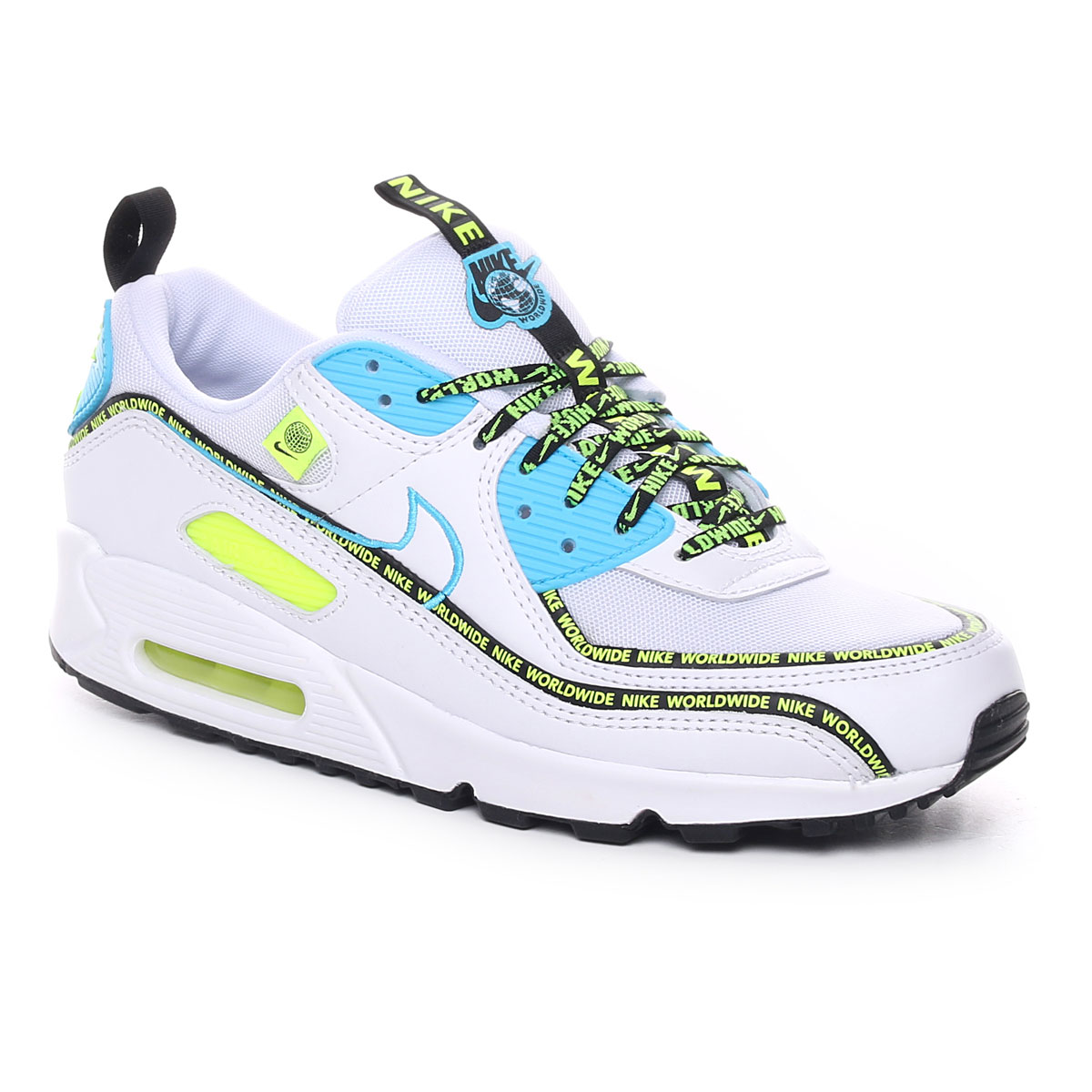 Nike Air Max 90 Se Worldwide Pack Uomo Bianco Giallo Fluo