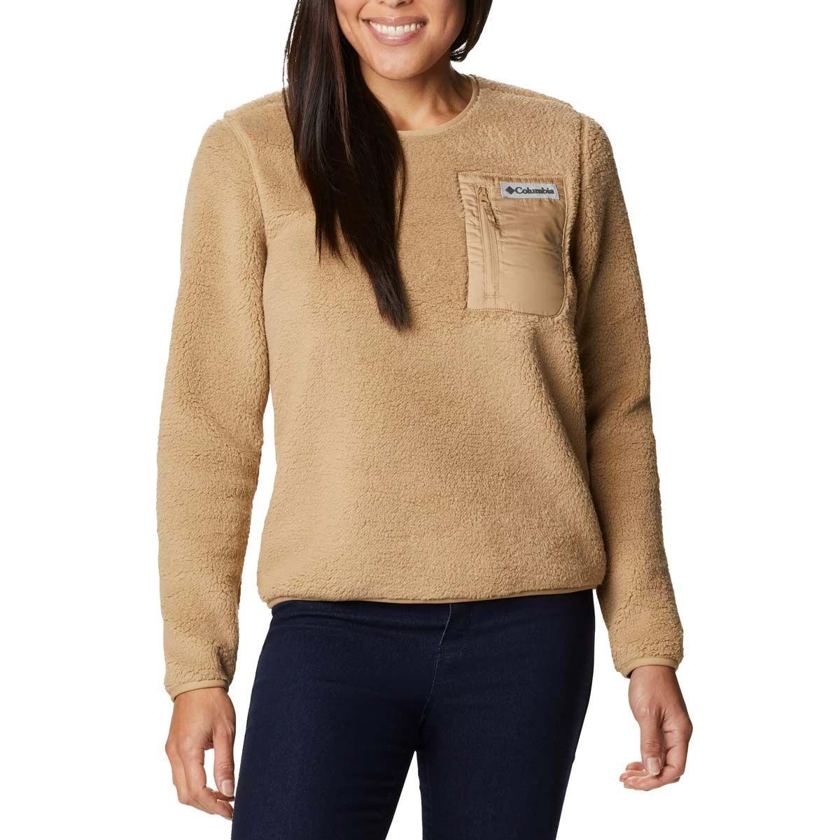 columbia maglione pullover sherpa westbend donna sabbia